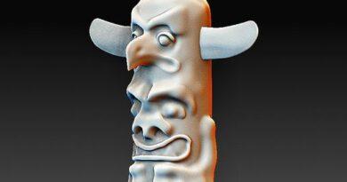 Download OBJ-bestand Indiase totem • Object naar 3D-print ・ Cults
